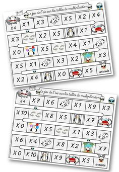 Correction table de multiplication et messages cod s - Table de multiplication jeux de lulu ...