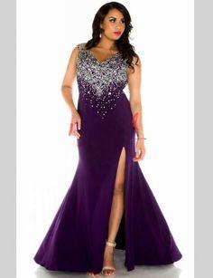 Purple Mother of the Bride Dresses for Weddings Mermaid Crystal Beaded Side Slit Long Formal Godmother Groom Mother Dresses