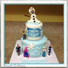 Frozen by Disney Cakes Disney Frozen Party, Frozen Birthday Party, Birthday Fun, Princess Birthday, Frozen Movie, Birthday Cakes, Birthday Ideas, Frozen Theme, Cupcakes