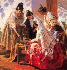 Art by Juan Gonzalez Alacreu Spanish Painters, Spanish Artists, Paintings I Love, Beautiful Paintings, Hispanic Art, Illustration Story, Animation, Tree Art, Traditional Art