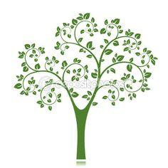 Silhouette d'arbre vectoriel — Illustration #22146431