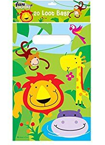 Jungle Loot Bags (Pack of 20): Amazon.co.uk: Toys & Games