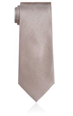Taupefarbene Krawatte für Jungen, Dupion-Optik   Dobell