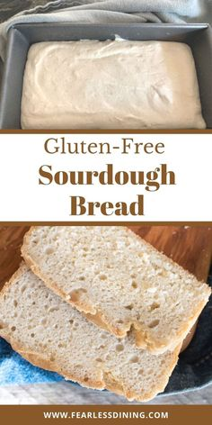 You won't believe how easy this gluten free sourdough bread is to make. It turns out light and fluffy and is perfect for sandwiches! I tested multiple gluten free flour blends so you can enjoy that perfect loaf of bread. fearlessdining Easy Gluten Free Sourdough Bread Recipe, Best Gluten Free Bread, Gluten Free Flour, Chef Recipes, Bread Recipes, Baking, Sandwiches, Food, Bakken