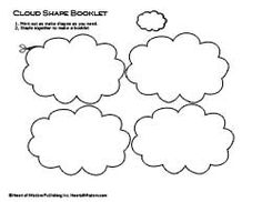 free cloud printables | Free Lapbook Templates - Digital Scrapbooking Blog