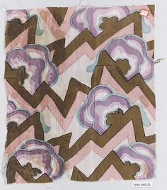 Textile sample : Wiener Werkstätte :  Designer : Unknown Designer Date : 1910–28. Medium: Silk  I so love this pattern and I found a new colour way of it nice.....I wish I knew the designer.....:)