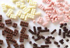 Toy blocks made from chocolate by Akihiro Mizuuchi