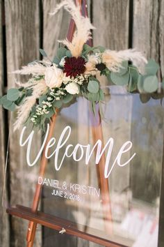 How To Have A Diy Wedding Without Hiring A Planner How To Have A Diy Wedding Without Hiring A Planner Organization Is Key Acrylic Wedding Welcome Sign Weddingsign Welcome Clearsign Weddingtrend Weddingplanning Diy Wedding Bouquet, Floral Wedding, Wedding Flowers, Wedding Table, Rustic Wedding, Wedding Day, Wedding Vows, Diy Wedding Deco, Wedding Cakes
