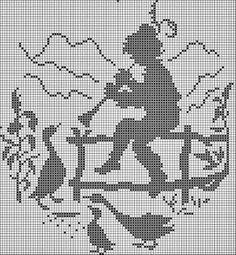 KUFER z artystycznym rękodziełem : Filet - koronka siatkowa - darmowe wzory