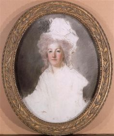 Portrait en buste de la reine Marie-Antoinette représentée en 1792 (1755-1793) Kucharski Alexandre (1741-1819)