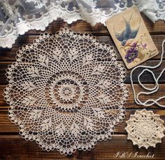 Light beige crocheted lace doily.Made of very thin 100% cotton thread. Beautiful and graceful, will easily fit into any interior and will become fine decoration of a holiday table. Can become an excellent gift for friends and relatives. Material: 100% cotton Max. size approx. 32cm
