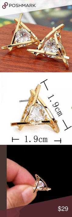 HPStunning Swarovski Crystal Brand New Boutique Quality Absolutely Stunning Gold Plated for wear and shine longevity Earrings Additional information please ask  Jewelry Earrings