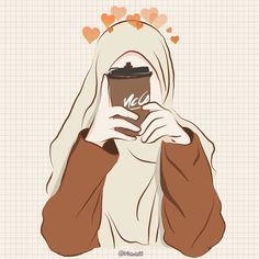 Rin on day 1 coffee words cannot espresso how much you mean to me tracing photo of ndy fraaa ps sorry i cheated it s already the second food and drink wallpaper cartoon food and drink wallpaper cartoon food and drink wallpaper cartoon Cartoon Kunst, Cartoon Drawings, Cartoon Art, Cartoon Girl Images, Girl Cartoon, Cover Wattpad, Hijab Drawing, Islamic Cartoon, Anime Muslim