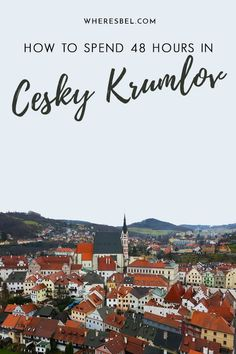 Traveling to Czech Republic? You have to visit Cesky Krumlov, a fairytale town in southern Bohemia | Things to do in Cesky Krumlov / Cesky Krumlov Itinerary / Daytrips from Prague / Czech Republic Travel #czechrepublic #ceskykrumlov #prague #travelitinerary