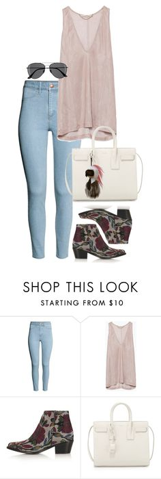 """""""Untitled #564"""" by sofia-608 ❤ liked on Polyvore featuring H&M, Zara, Topshop, Yves Saint Laurent and Fendi"""
