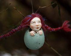 tatjana raum | OOAK pixie girl Kati easter egg