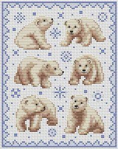 Cross Stitchers Club-polar bears