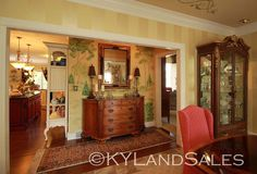 I love this mural. Lake house on City Lake in Campbellsville - click for 100+ more images on this exquisite home for sale - http://www.kylandsales.com/126CoxCove/KentuckyLakeHouseForSaleCove.html