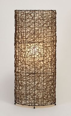 Rattan lamp.  A little textured style.