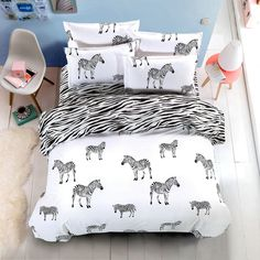 hello kitty black and white 4pcs bedding set 5 size tag a friend who would love