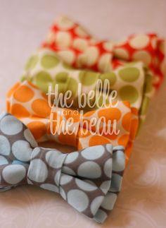 Polka dots + bow ties = <3 !!!