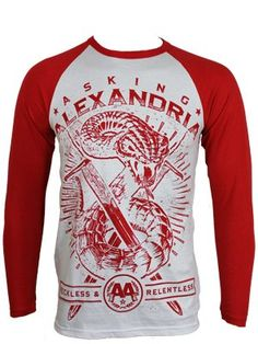 Asking Alexandria Snake Men's Baseball T-Shirt