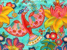 Trade Winds Empress aqua Lily Ashbury moda fabric FQ by claydeal