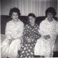 Donna Carol Lois in Christmas PJs mom made every year