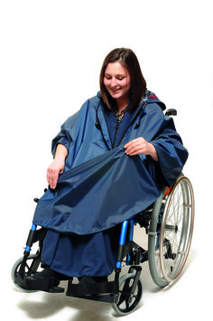 Mobility Poncho No Sleeves (3 in 1)  Quick and easy to put on, the new Simplantex three in one version can be worn as an unlined poncho for rain protection, a fleece poncho for warmth or combined for warmth and rain protection. Ideal for use on the wheelchair or scooter.