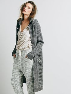 Free People Right Angles Hooded Sweater Jacket at Free People Clothing Boutique