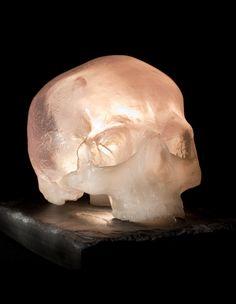 Crystal Effect Human Skull Light Sculpture by megcoleman2 on Etsy