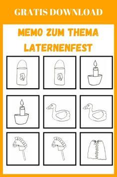 Spiel | Memo zum Laternenfest + gratis Download! | kinderlachen-ideen Gratis Download, Diy For Kids, Words, Kindergarten Games, Daycare Ideas, Lantern Festival, Children Laughing, Colored Paper, Kids Day Out