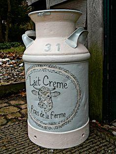 Repurposed vintage milk can