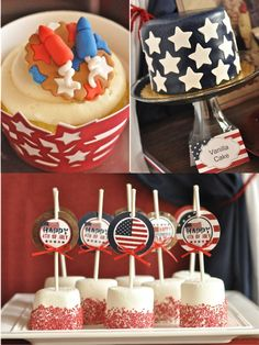 Bird's Party Blog - Party Supplies, Party Printables, Custom Paper Goods, Stationery and Party Crafts @ http://www.blog.birdsparty.com/2012/06/vintage-americana-4th-july-party-bbq.html