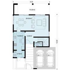 Casa Verbenas   Proyecto ya ! Casas Country, Small Villa, Villa Plan, Usa House, Storey Homes, Architecture Plan, Townhouse, House Plans, Floor Plans