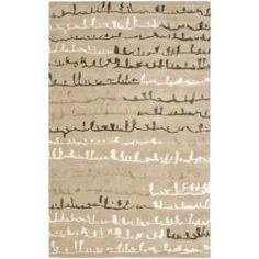 Handmade Soho Beige/ Multi New Zealand Wool Rug (7'6 x 9'6)