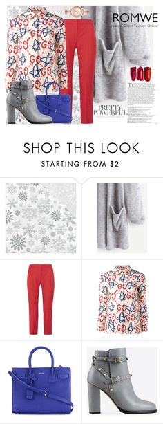 """""""Untitled #327"""" by kat-van-d ❤ liked on Polyvore featuring Kaisercraft, Alexander McQueen, Gucci, Yves Saint Laurent, Valentino, Balmain, Michael Kors and romwe"""