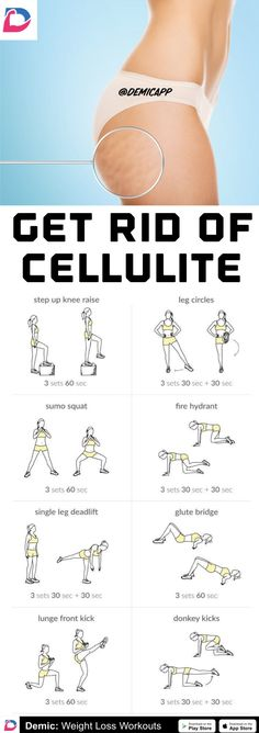 8 Workout routines to help you Remove Cellulite in 14 Days Thigh Cellulite, Cellulite Wrap, Causes Of Cellulite, Cellulite Exercises, Reduce Cellulite, Thigh Exercises, Anti Cellulite, Cellulite Workout, Exercises To Tone Thighs