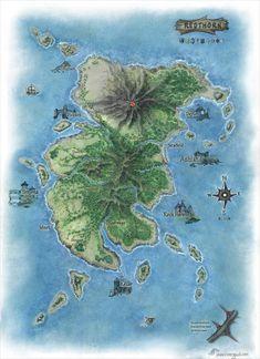 Redthorn by Jaxilon Fantasy Map Making, Fantasy City Map, Fantasy World Map, Fantasy Rpg, Jurassic Park, Jurassic World, Cthulhu, Dnd World Map, Imaginary Maps