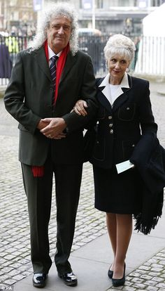 Wide social circle: Queen guitarist Brian May attended with his second wife Anita Dobson Queen Guitarist, Queen Brian May, Prince Charles And Camilla, Queen Pictures, We Will Rock You, Queen Freddie Mercury, Queen Band, John Deacon, Guitars