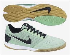 6c0c842238ca5c Nike FC247 Gato II Leather Indoor Soccer Shoes (Green Glow Black)