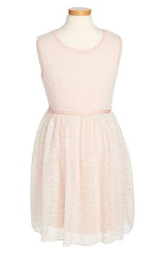 Zunie Embroidered Mesh Sleeveless Dress (Toddler Girls, Little Girls & Big Girls) available at #Nordstrom