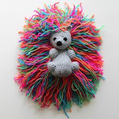 Hedgehog punk with the rainbow spines - Free pattern