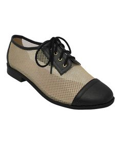 Love this Yoki Black Mesh Aliya Oxford by Yoki on #zulily! #zulilyfinds
