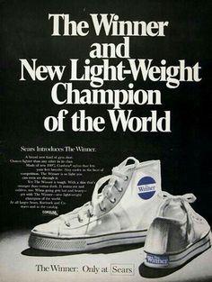 1969 Sears Winner Hi-Top Sneakers Classic Vintage Print Ad 85cbf40e2