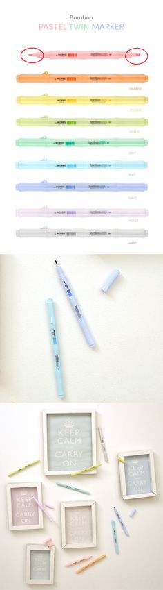 "Chances are, if you love pens, you will love this one! First, it's adorably shaped like bamboo, and who doesn't love that! Second (and probably most importantly), it has 2 separate marker sizes on either end of the pen for writing, underlining, highlighting and coloring! Pen fanatics, feast your eyes on the beautiful and cute Bamboo Pastel Twin Marker! You will fall in love at first ""write""! ;)"