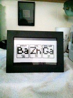 Abbeeroad's Bazinga Cross Stitch