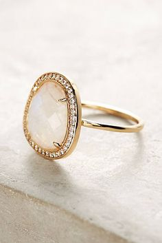 Adella Stone Halo Ring