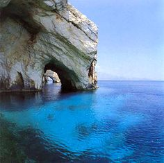 Blue caves, Greece