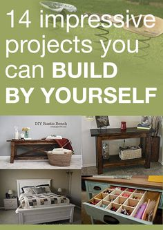 14 impressive projects you can build by yourself   #DIY #ideas #furniture